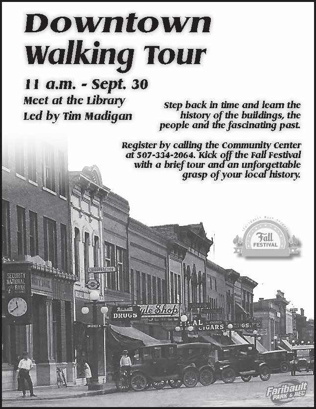 downtown walking tour flyer