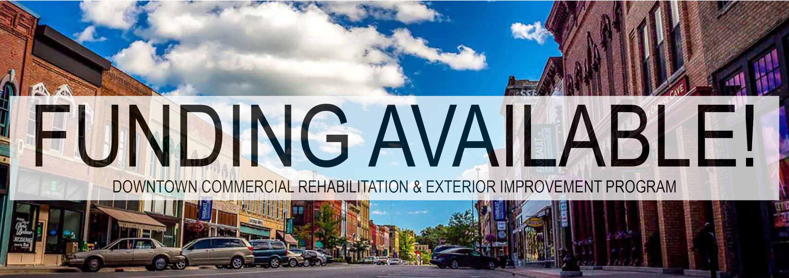 Downtown Funding Available
