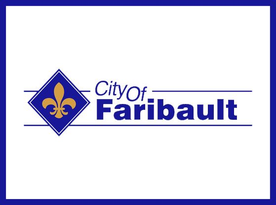 A photograph of the City of Faribault logo.