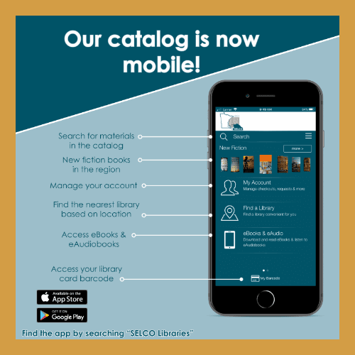 selco library catalog mobile graphic